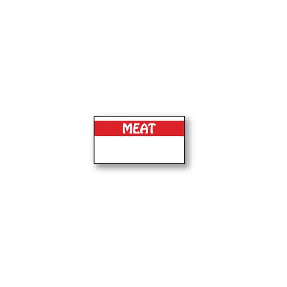 DayMark 112112 White / Red Meat Label For 1110 Label Gun - 17008 / PK