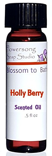 Holly Berry Scent Oil - Flowersong Holly Berry Scented Oil - Fragrance for Your Home - .5 oz