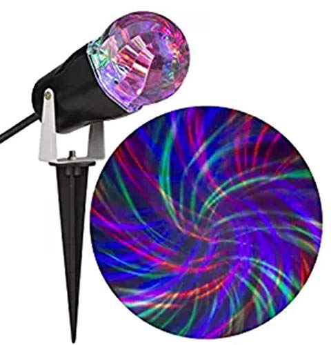 Gemmy Comet Spiral Fire Ice Orange/Purple/Green Led  Halloween Outdoor Stake Light Projector
