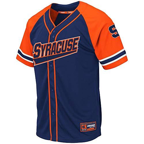 (Colosseum Mens Syracuse Orange Wallis Baseball Jersey - 2XL)
