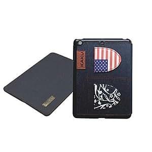 Funda de cuero de diseño de los pantalones vaqueros especiales de la bandera nacional de la PU con el soporte para iPad Aire , D