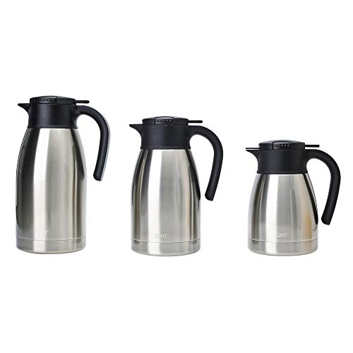 GiNT Stainless Steel Thermal Coffee Carafe with Lid/Double Walled Vacuum Thermos / 12 Hour Heat Retention,1.9L,Sliver by GiNT (Image #5)