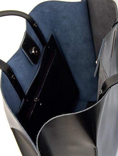 TEA Shopper Borse Donna Borse Tote Vera Pelle Made in Italy Moda