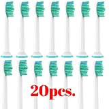 PHILIPS SONICARE ProResults | 20pcs. | Compatible Toothbrush Heads Diamond Clean, FlexCare+, FlexCare Healthy White and Easy Clean Models: LIMITED TIME OFFER WHILE SUPPLY LASTS (20)