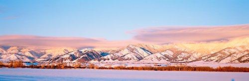 Snow covered mountains Bridger Mountains Rocky Mountains Bozeman Gallatin County Montana USA Poster Print (6 x 18)