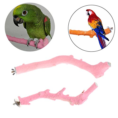 Parrot stand ,NNDA CO Pet Parrot Raw Fork Stand Wood Toys Rack Hamster Tree Branch Perches Birds Cage ,Wood,2.5cm (2)