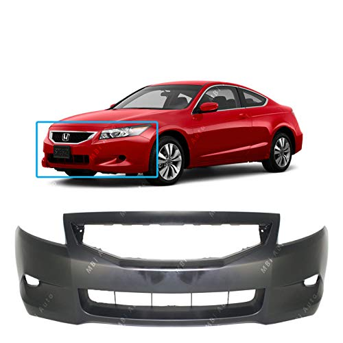 MBI AUTO - Primered, Front Bumper Cover Fascia for 2008 2009 2010 Honda Accord Coupe 2 Door 08 09 10, HO1000256 ()