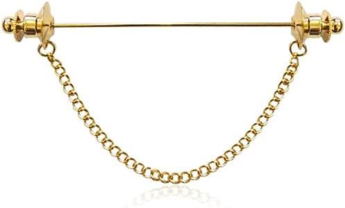 Mcuties Brooch Broche Una Palabra Broche Camisa de los Hombres Cuello de alfiler Cuello de Cadena Chaqueta de Punto Camisa Francesa de Las Mujeres Borla Lavalier: Amazon.es: Joyería