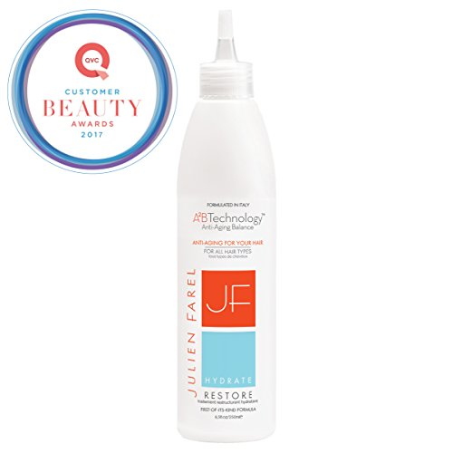 Julien Farel Hydrate Restore Hair & Scalp Treatment, 8.5 Fl Oz – SLS & Paraben Free, Color Treated – Best for Dry, Thin and All Hair Types – Moisturize, Volumize, Replenish, As Seen on The View