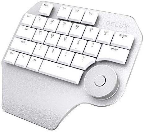 Moveski T11 Teclado de diseño con Smart Dial 3 Grupo Teclas Personalizables Teclado compatibilidad para Wacom Windows Mac Design Software