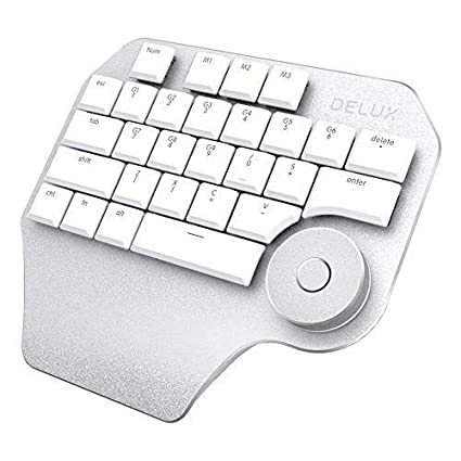 Moveski T11 Wired Designer Keyboard Type C with Smart Dial 3 Group  Customizable Keys Keypad Compatibility for Wacom Windows Mac Design  Software -White