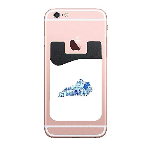 Cusomcardphone Lilly Pulitzer Kentucky State Phone Wallet Ultra Credit Card Holder Sticker Adhesive Cell Phone Wallet Compatible for iPhone, Samsung, Most Android Smart Phones. ()