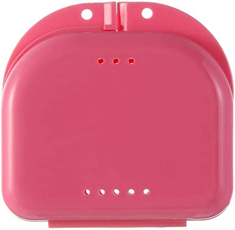 GONGFF Diente Falso retenedor Dental ortodoncia Protector bucal dentadura Caja de Almacenamiento Caja de plástico Suministros de higiene bucal Organizador Accesorios Rosa: Amazon.es: Hogar