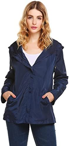 UNibelle Womens Anorak Jacket Lightweight Drawstring Hooded Military Parka Coat