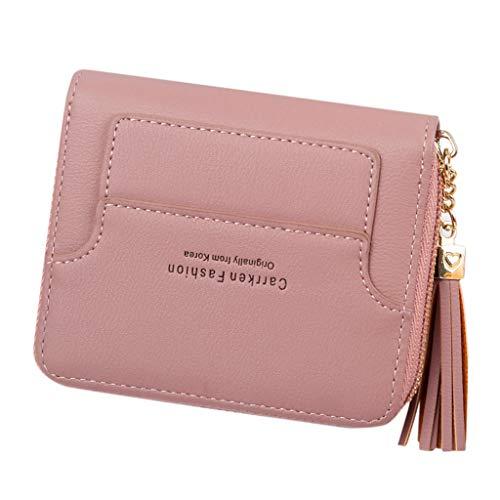 Mysky Women Short Style Fashion Mini Tassel Zipper Coin Purse Card Holder Bag -