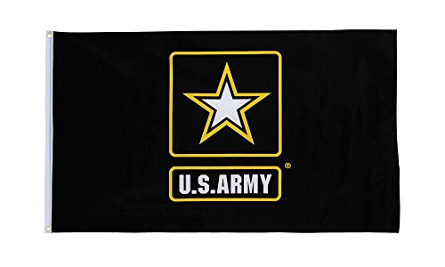 In the Breeze U.S. Army Logo Grommet Flag, 3 by 5-Feet