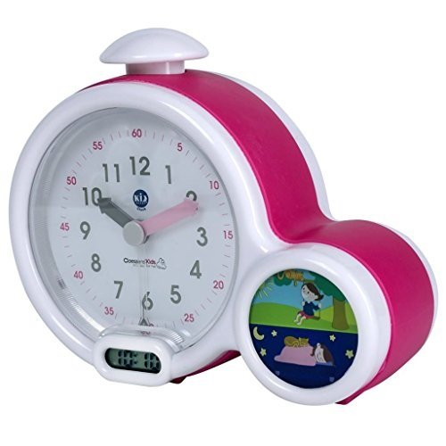 Claessens' Kids Kid'Sleep My First Alarm Clock and Sleep Trainer, Pink (Clock Alarm Birdsong)