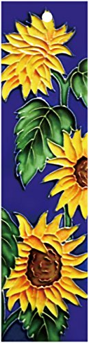 (Sunflower_Right - Decorative Ceramic Art Tile - House Number - 2