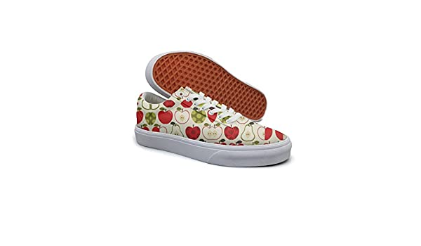 Ouxioaz Womens Lace Up Shoes Apple And Pear Shoe Lace Up