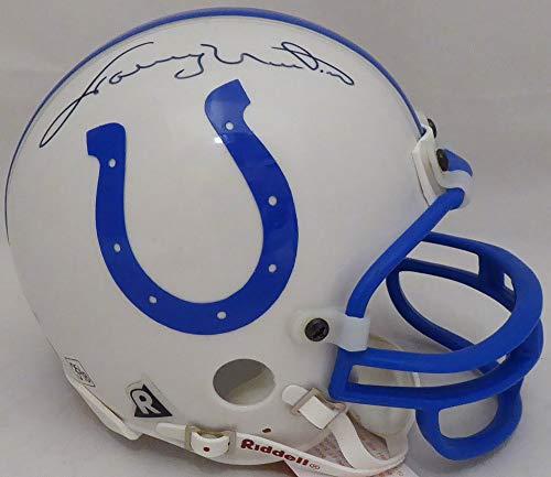 Johnny Unitas Autographed Baltimore Colts Mini Helmet - Beckett Authentic ()