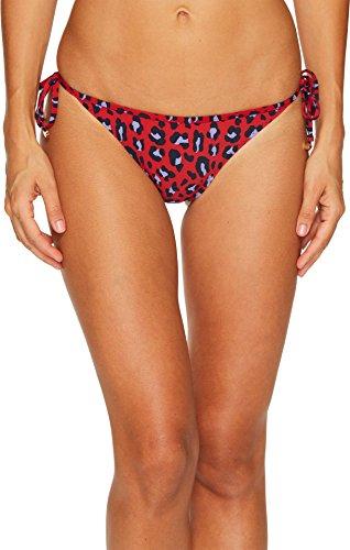 Leopard Tie Side Bikini (Stella McCartney Women's Leopard Tie Side Bikini Bottom Navy/Salsa Red Medium)