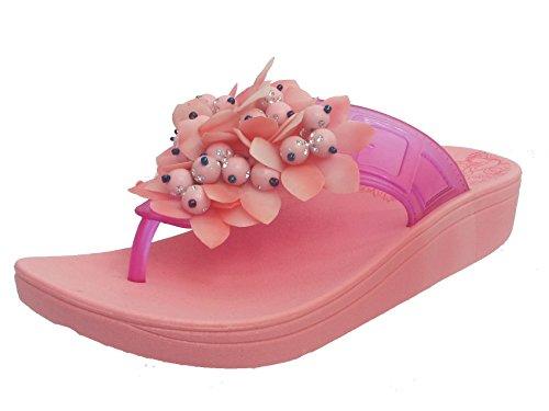 Damen Pantolette Keil Toe Post sehr Flip Flop Sandals