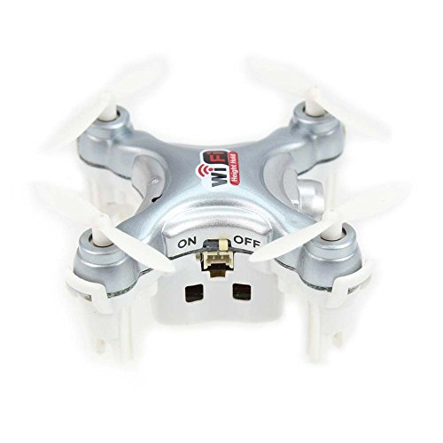 Cheerson CX-10WD-TX 2.4G 4CH Mini Wifi FPV High Hold Mode 0.3MP Camera Phone Control RC Quadcopter - Silver
