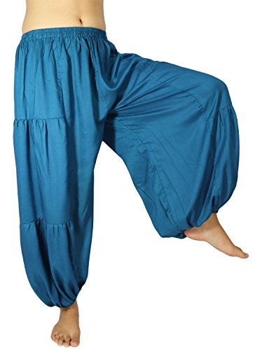 Cm Costumes Creations (Lovely Creations's Men and Women's Plus size loose Harem Aladdin Yoga Elastic Waist Casual Pants Wild Leg and Waist 24-48