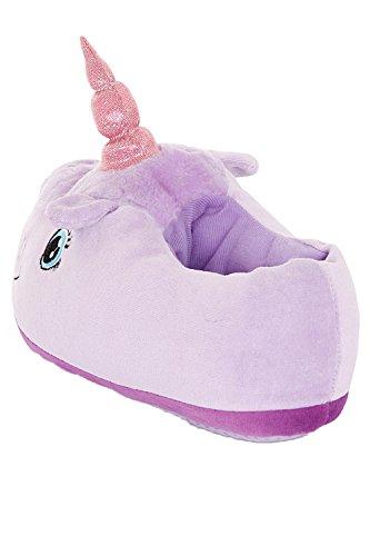 Dannii Matthews - Zapatillas de estar por casa para mujer Lilac Unicorn