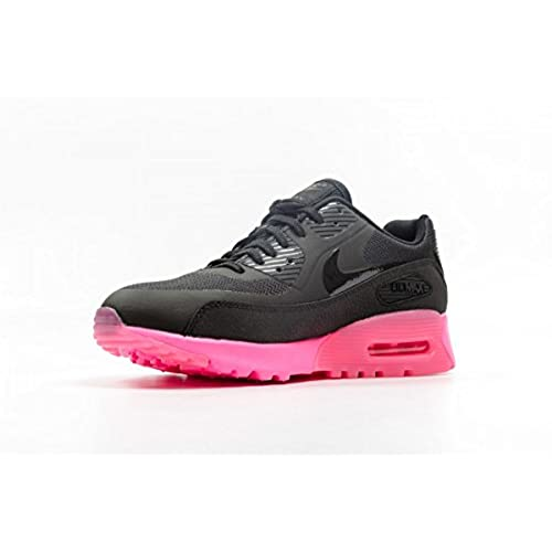 nike air max 90 womens shoes black\/pink church
