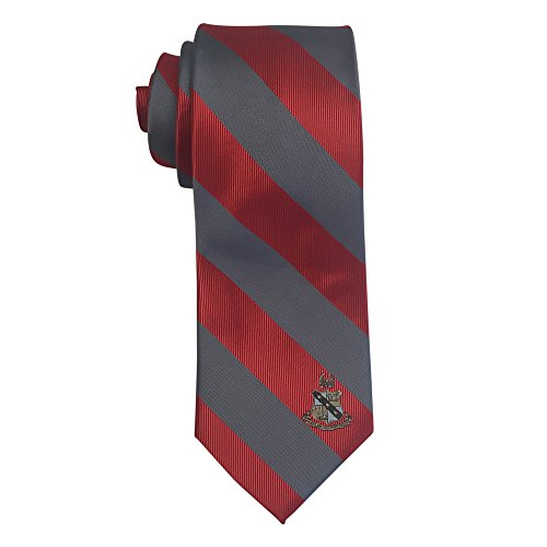 Sigma Phi Fraternity - Alpha Sigma Phi Fraternity Necktie Tie Greek Formal Occasion Standard Length Width Hanky Pocket Square Alpha Sig (Striped Crest Necktie)