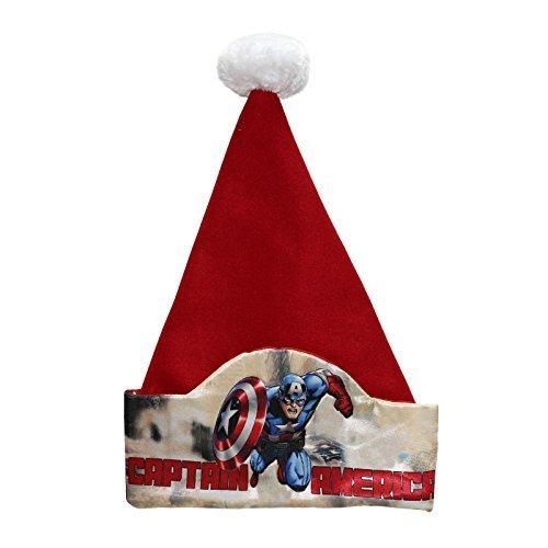 Disney 17in Marvel Captain America Santa Hat by Disney (Image #1)