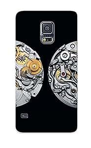 CveKuPh3615SHxhl New Premium Flip Case Cover Swiss Watch Mechanism Skin Case For Galaxy S5 As Christmas's Gift