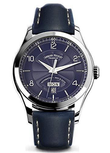 Armand Nicolet Gents-Wristwatch M02 Day & Date Analog Automatic 9740A-BU-P140BU2