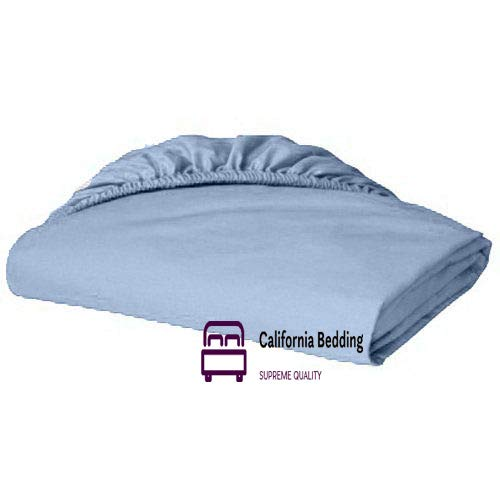 Hotel Luxury 600 TC Long-Staple Egyptian Cotton Full/Double 54x75 Size 1 Fitted Sheet Only Fits Mattress 12