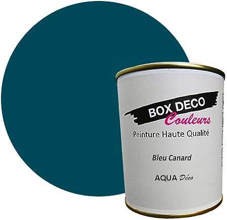 Peinture Acrylique Aspect Satin Aqua Déco Murale 44 Couleurs 750 Ml 7 5 M Bleu Canard
