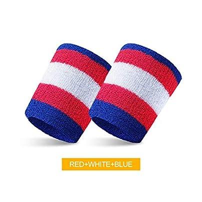 Sunonip 1Pcs Sports Wristband Cotton Sweat-Absorbent Basketball Badminton Table Tennis Yoga Warm Breathable Towel Guard Wrist Estimated Price £8.19 -