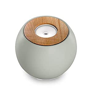 Ellia, Balance Ultrasonic Essential Oil Aromatherapy Diffuser with 3 Oil Samples, 7 Hours Continuous Runtime, Remote, Mood Light & Sounds. 150mL Reservoir Size. Ceramic, Glass & Wood, Grey ARM-730GY