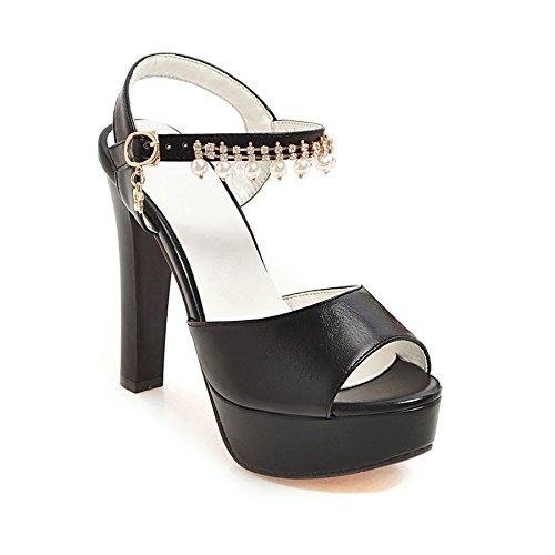 audaces con femenino black tamaño El correa de código verano ultra moderno sandalias expuesta con wtAqxAX7O