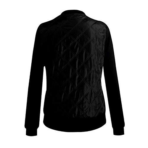 Nero Parka Black Jacketgiubbotto Donna Casual Bomber Lunga Autunno Zipper Giacche Jjhr Slim Coat 2018 Green Inverno Pilot Manica Basic Army wSq7UAAH