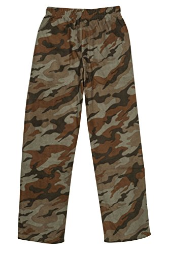 North 15 Boys Cozy Micro Fleece Camouflage Pajama Pants-1227B-3-18