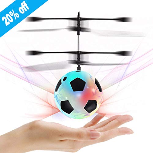 Flying Ball, Kids Toys Hand Control Helicopter Mini Infrared Induction Drone Magic RC Flying Light Up Toys Indoor and Outdoor Games Fun Gadgets for Boys Girls Kids Teenagers