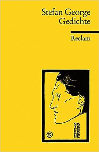 Gedichte Stefan George 9783150185537 Amazoncom Books