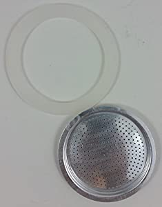 Replacement Gasket and Filter For Stovetop Espresso Coffee Makers by Imusa
