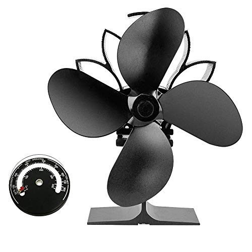 Cheap Fan Heater Heat-Operated Fan Heater for Fireplace with firewood Fireplace Fan Without Electric Fan Without Electricity Oven Fan Without Electricity Large Fireplace Wood stoves ovens Black Friday & Cyber Monday 2019