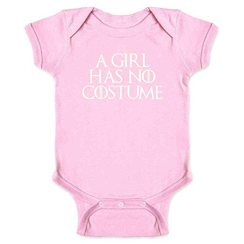 A Girl Has No Costume Halloween Costume Funny Pink 6M Infant Bodysuit -