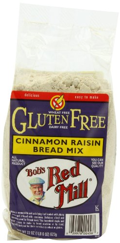 Bread Wheat Free Mix (Bob's Red Mill Bread Mix Cinnamon Raisin Gluten Free, 22-ounces (Pack of4))