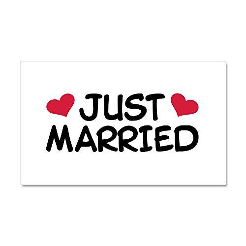 - CafePress - Just Married Wedding - Car Magnet, 20