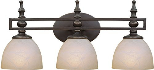 Oiled Bronze Three Light Bath - 6