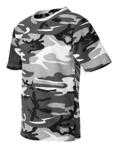 Code Five 3906 Adult Camo Short Sleeve T-Shirt Army Woodland Digital Urban Camouflage Tee (X-Large, Urban Woodland) ()